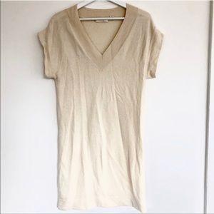 Uniqlo Short Dolman Sleeve V-Neck Knit Dress